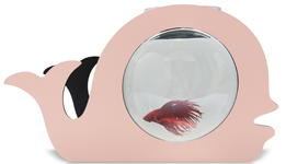 pink goldfish bowl